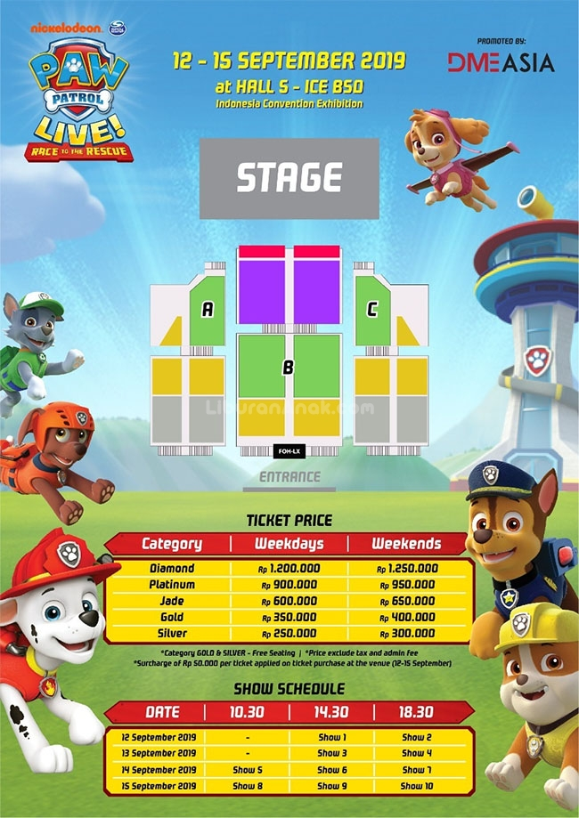 paw patrol live  race to the rescue datang ke indonesia