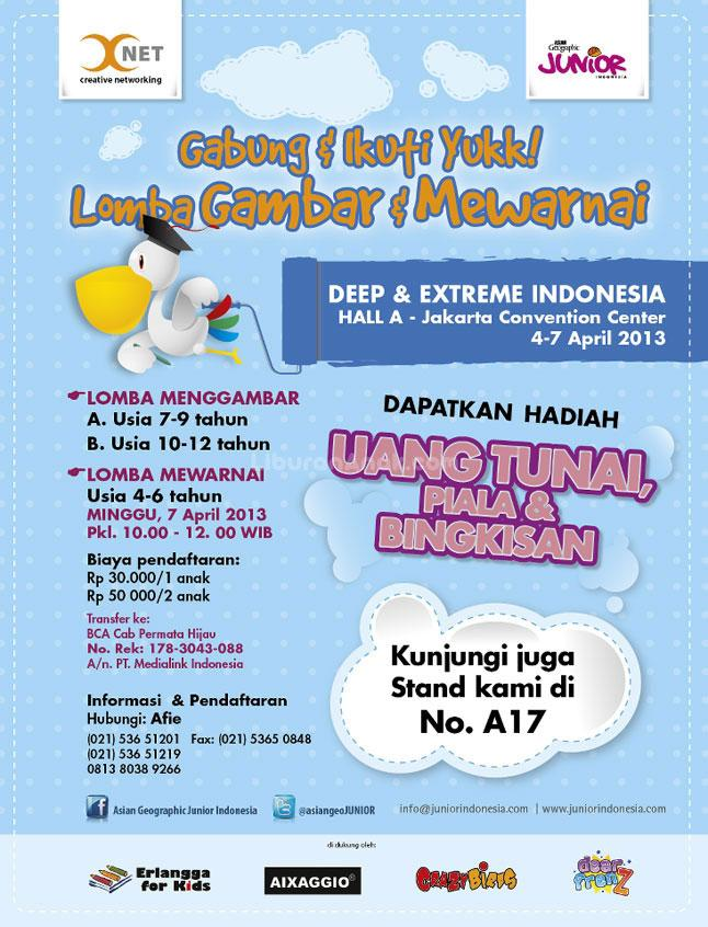 Kids &; parents events > april 2013 > lomba gambar dan mewarnai &;deep