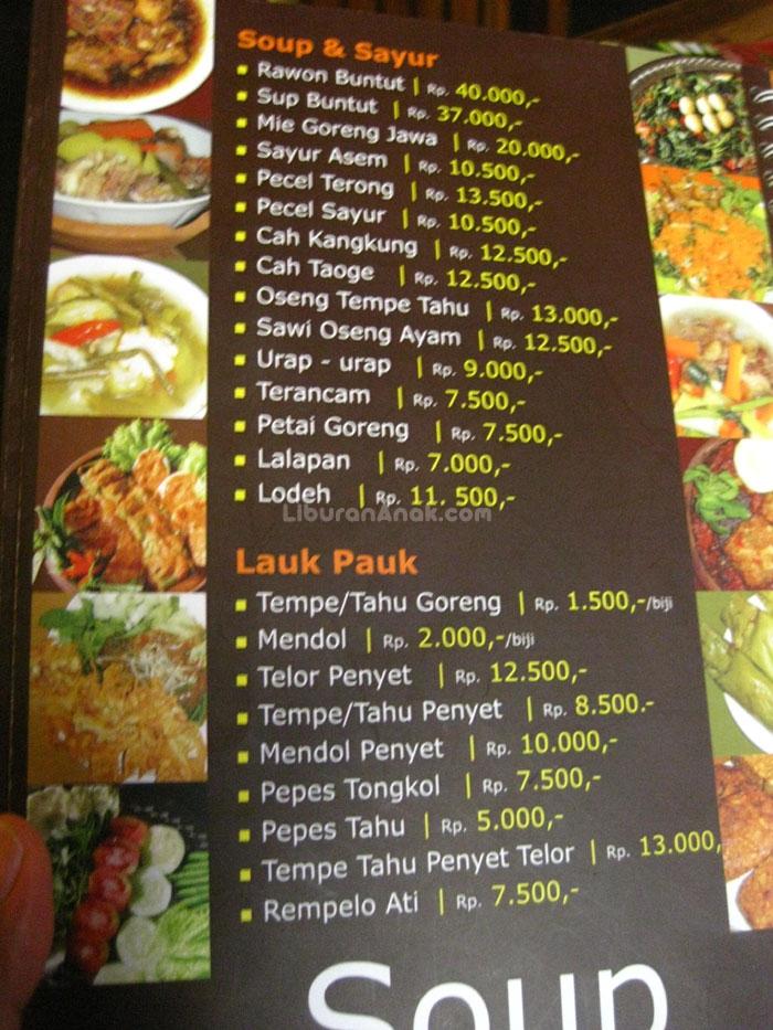 Makan Restaurant Menu