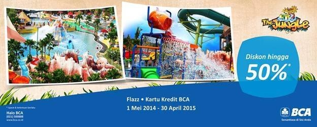 Discount dengan kartu kredit BCA di The Jungle