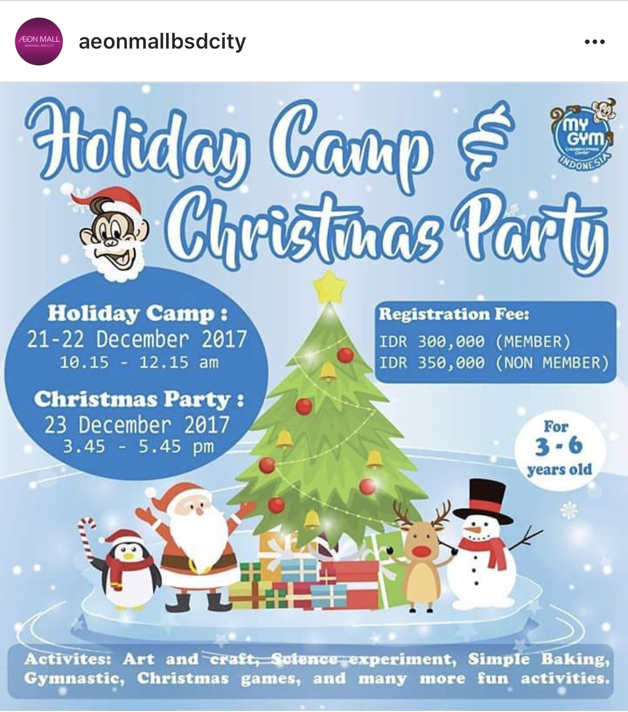 holidaycampandchristmasparty_liburananak_aeonmallbsd