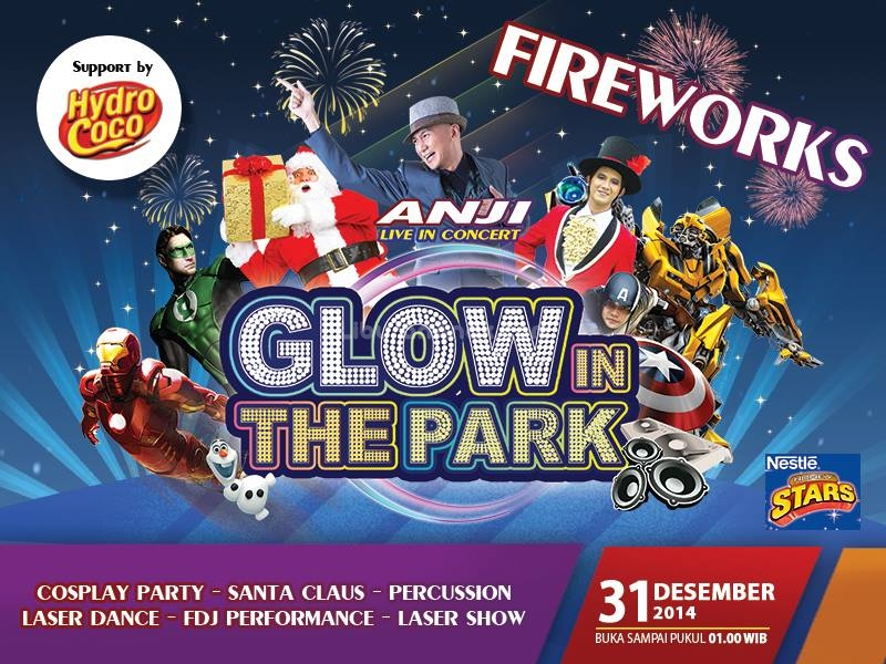 newyeareve Glow In The Park At Jungleland Indonesia - Kids & Parents ...