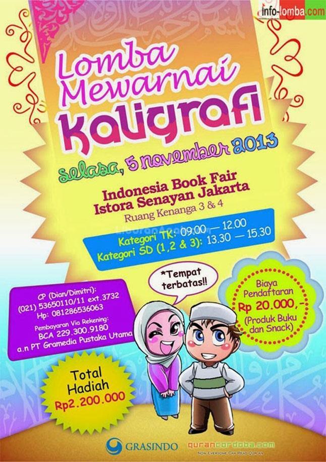 Lomba Mewarnai Kaligrafi Kids Parents Events Liburan Anak