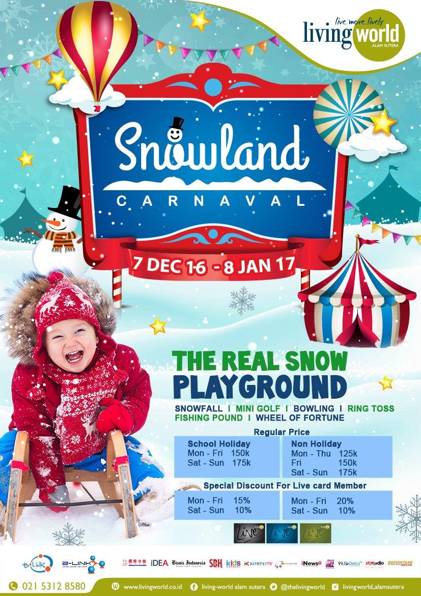Daftar Harga Snowland Carnaval