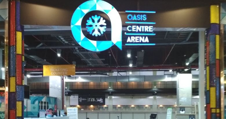 Oasis Centre Arena Ice Skating Olympic Size