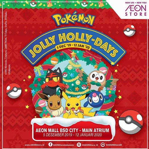 Pokemon Jolly Holly Days AEON Mall BSD