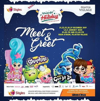 Meet & Greet Bersama Blume, Shopkins, Goo Jit Zu dan Roomie Boo di Pejaten Village