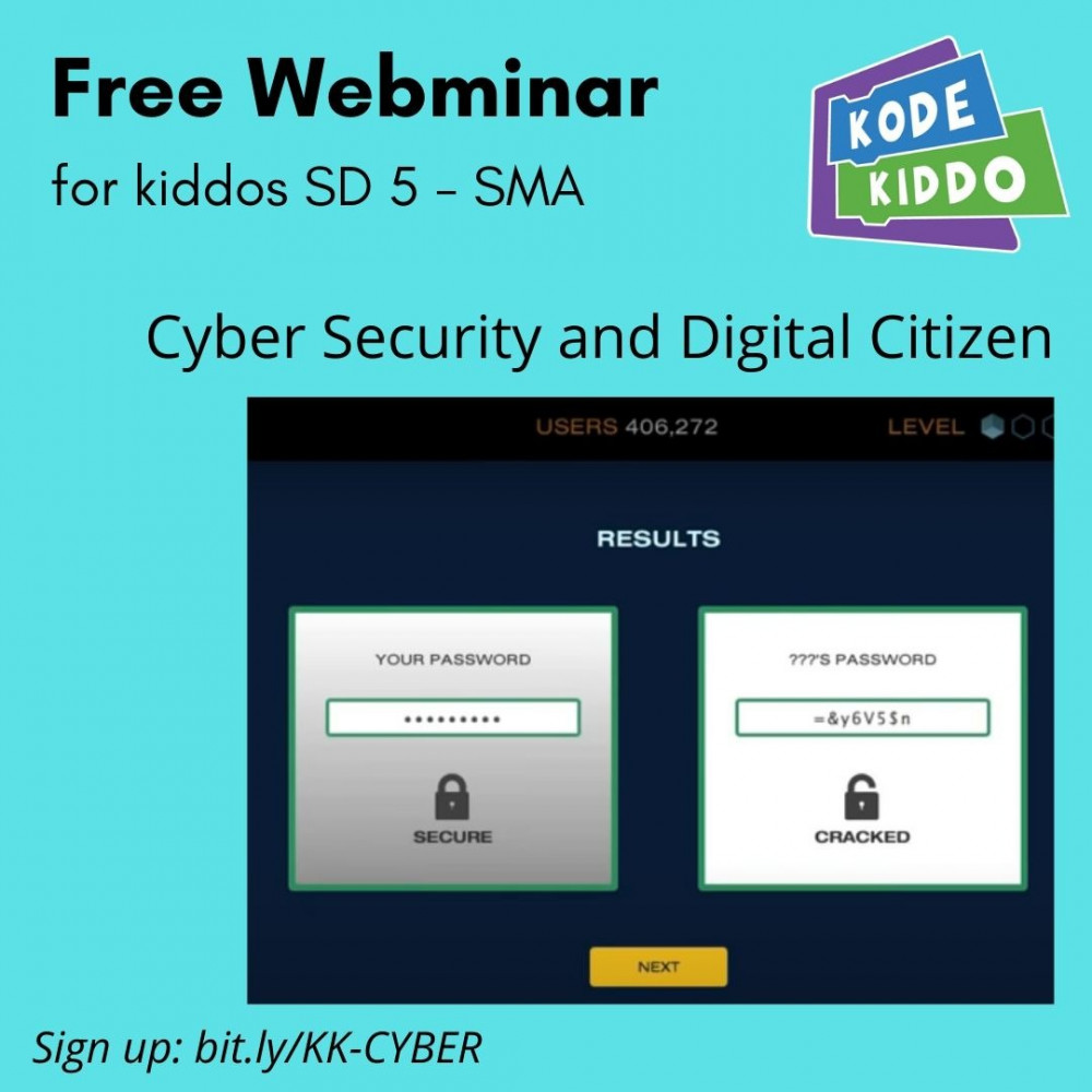 Kode Kiddo Webminar Cyber Security and Digital Citizen